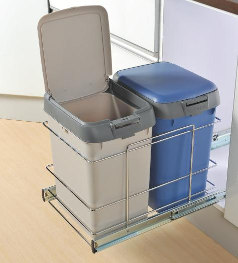 Kitchen Recycling Bins For Cabinets: Kitchen Recycling Center